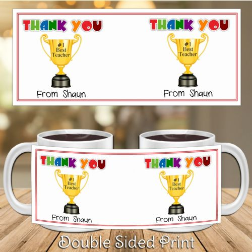 Personalised Thank You Teacher Gift Mug N23